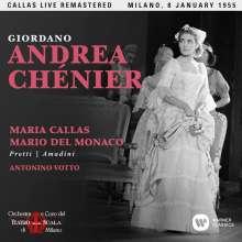 Umberto Giordano (1867-1948): Andrea Chenier (Remastered Live Recording Mailand 08.01.1955), 2 CDs