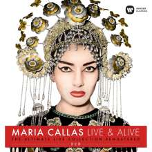 Maria Callas - Live & Alive (Remastered Live-Recordings), 2 CDs