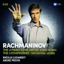 Sergej Rachmaninoff (1873-1943): Symphonien, Klavierkonzerte, Orchesterwerke, Klavierwerke, 8 CDs