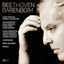 Ludwig van Beethoven (1770-1827): Beethoven - Barenboim (Warner-Edition), 35 CDs