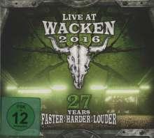 Live At Wacken 2016: 27 Years Faster Harder Louder, 2 CDs und 2 DVDs