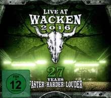 Live At Wacken 2016: 27 Years Faster Harder Louder, 2 CDs und 2 Blu-ray Discs