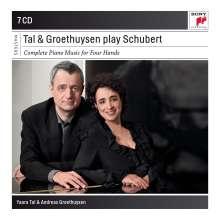 Franz Schubert (1797-1828): Sämtliche Klavierwerke zu vier Händen, 7 CDs