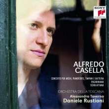 Alfredo Casella (1883-1947): Scarlattiana op.44 für Klavier & kleines Orchester, CD
