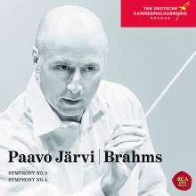 Johannes Brahms (1833-1897): Symphonien Nr.3 & 4, CD