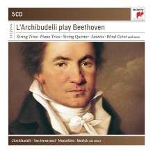 Ludwig van Beethoven (1770-1827): Streichtrios Nr.1-5, 5 CDs