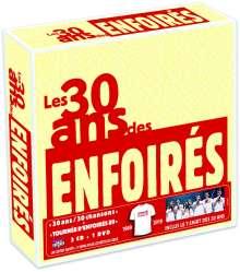 Les Enfoirés: Les 30 Ans Des Enfoirés, 3 CDs, 1 DVD und 1 T-Shirt