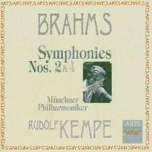 Johannes Brahms (1833-1897): Symphonien Nr.2 & 4, CD