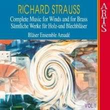 Richard Strauss (1864-1949): Sämtliche Werke für Bläser Vol.1, CD