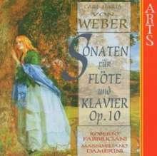 Carl Maria von Weber (1786-1826): Sonaten für Flöte & Klavier op.10 Nr.1-6, CD