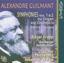 Felix Alexandre Guilmant (1837-1911): Symphonien für Orgel & Orchester Nr.1 & 2, CD
