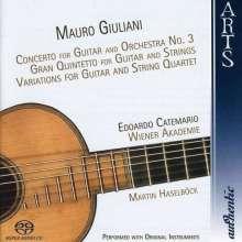Mauro Giuliani (1781-1829): Gitarrenkonzert op.70, Super Audio CD
