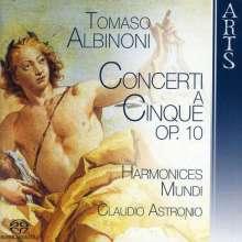 Tomaso Albinoni (1671-1751): Concerti op.10 Nr.1,2,4,5,7-9,11, Super Audio CD