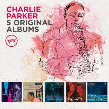 Charlie Parker (1920-1955): 5 Original Albums (60 Jahre Verve), 5 CDs