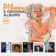 Ella Fitzgerald (1917-1996): 5 Original Albums (60 Jahre Verve), 5 CDs