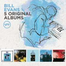 Bill Evans (Piano) (1929-1980): 5 Original Albums (60 Jahre Verve), 5 CDs