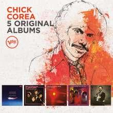 Chick Corea (geb. 1941): 5 Original Albums (60 Jahre Verve), 5 CDs