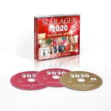 Schlager 2020: Die Hits des Jahres, 2 CDs und 1 DVD