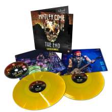 Mötley Crüe: The End: Live In Los Angeles (180g) (Limited Edition) (Yellow Vinyl), 2 LPs und 1 DVD