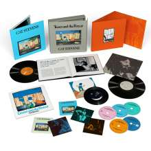 """Yusuf (Yusuf Islam / Cat Stevens): Teaser And The Firecat (50th Anniversary Edition) (remastered) (Limited Super Deluxe Box), 4 CDs, 1 Blu-ray Disc, 2 LPs und 1 Single 7"""""""
