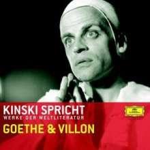 Filmmusik: Kinski spricht Werke der Weltliteratur - Goethe & Villon, CD