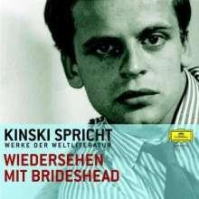 Kinski spricht Werke der Weltliteratur - Wiedersehen mit Brideshead, 2 CDs