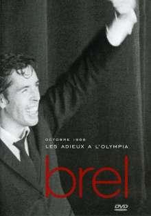 Jacques Brel (1929-1978): Les Adieux a L'Olympia Octobre 1966, DVD