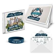 voXXclub: Rock Mi: Die größten Hits (Fan Edition), 2 CDs und 1 Merchandise