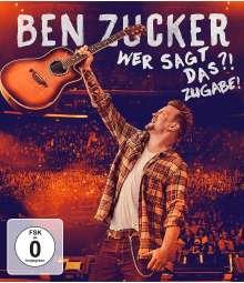 Ben Zucker: Wer sagt das ?! Zugabe !, Blu-ray Disc