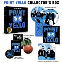 Yello: Point (Limited Collector's Box), 1 CD, 1 DVD, 1 Blu-ray Disc und 1 LP