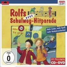 Rolf Zuckowski: Rolfs neue Schulweg-Hitparade, 1 CD-Audio + 1 DVD, 1 CD und 1 DVD