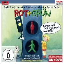 Rolf Zuckowski: Rot + Grün, 1 CD-Audio + 1 DVD, 1 CD und 1 DVD