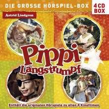 Pippi Langstrumpf - Die große Hörspiel-Box, 4 CDs