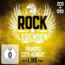 Puhdys + City + Karat: Rock Legenden Live (Limited Edition), 2 CDs