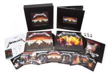 Metallica: Master Of Puppets (remastered) (180g) (Limited-Numbered-Edition) (Deluxe-Boxset), 3 LPs, 10 CDs, 2 DVDs, 1 MC und 1 Buch