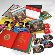The Beatles: Sgt. Pepper's Lonely Hearts Club Band (50th Anniversary Edition), 4 CDs, 1 Blu-ray Disc und 1 DVD