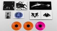 Massive Attack: Mezzanine (Limited-Super-Deluxe-Vinyl-Box) (Colored Vinyl) (Remastered), 3 LPs