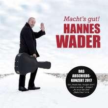 Hannes Wader: Macht's gut! - Das Abschiedskonzert 2017, CD