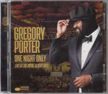 Gregory Porter (geb. 1971): One Night Only - Live At The Royal Albert Hall, 1 CD und 1 DVD