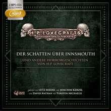 Bibliothek des Schreckens Box 02: Der Schatten über Innsmouth und andere Horrorgeschichten, 2 MP3-CDs