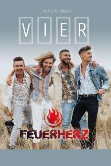 Feuerherz: Vier (Limitierte Fanbox), 1 CD und 1 Merchandise