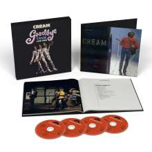 Cream: Goodbye Tour Live 1968 (Limited Box), 4 CDs und 1 Buch