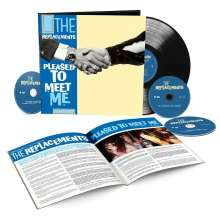 The Replacements: Pleased To Meet Me (remastered) (Deluxe Edition) (Hardcover Book), 3 CDs und 1 LP