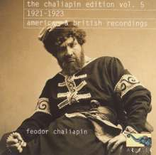 The Feodor Schaljapin Edition Vol.5, CD