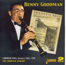 Benny Goodman (1909-1986): Carnegie Hall, January 16th, 1938, 2 CDs