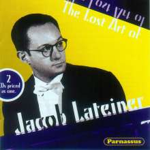 Jacob Lateiner - The Lost Art of, 2 CDs
