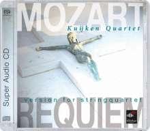 Wolfgang Amadeus Mozart (1756-1791): Requiem KV 626 (Fassung für Streichquartett), SACD
