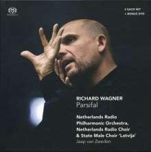 Richard Wagner (1813-1883): Parsifal, 4 Super Audio CDs und 1 DVD