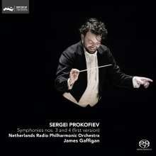 Serge Prokofieff (1891-1953): Symphonien Nr.3 & 4, Super Audio CD