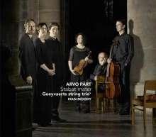 Arvo Pärt (geb. 1935): Stabat Mater (Version für Sopran, Countertenor, Tenor & Streichtrio), CD